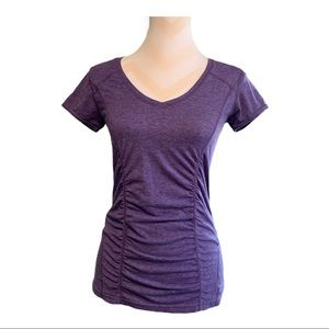 ZELLA short sleeve ruched front tee shirt size s